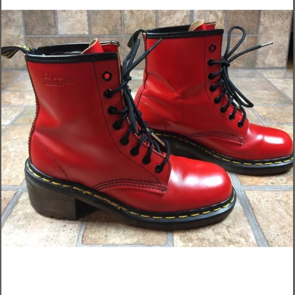 59635f2763a Dr. Martens Shoes | Dr Martens Air Wair Clemency Heeled Redboots Us ...
